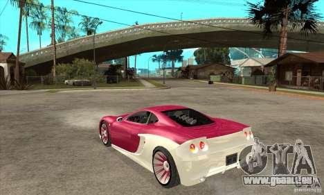 Ascari KZ-1 pour GTA San Andreas sur la vue arrière gauche