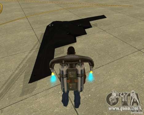 B-2 Spirit Stealth pour GTA San Andreas laissé vue