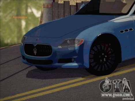 Maserati Quattroporte v3.0 pour GTA San Andreas sur la vue arrière gauche