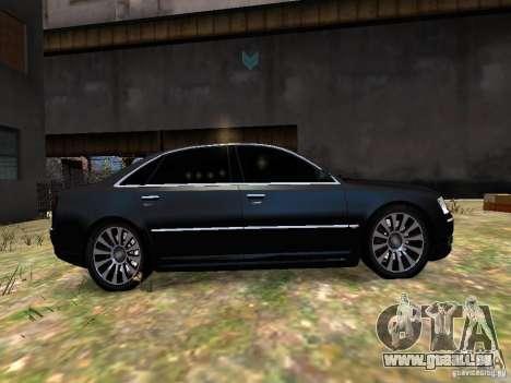 Audi A8L W12 pour GTA 4 est une vue de l'intérieur