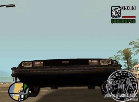 Crysis Delorean BTTF1 für GTA San Andreas Rückansicht