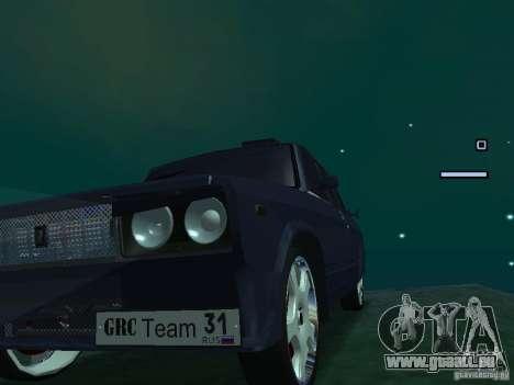 VAZ 2105 Drift King pour GTA San Andreas sur la vue arrière gauche