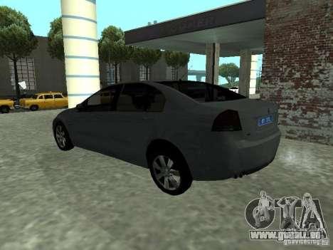 Holden Calais pour GTA San Andreas laissé vue