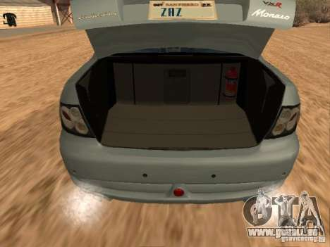 Vauxhall Monaro für GTA San Andreas Rückansicht