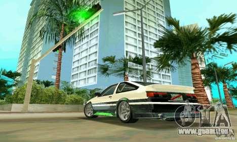 Toyota Trueno AE86 4type pour une vue GTA Vice City de la gauche
