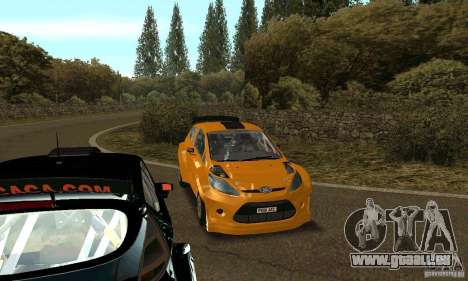 Ford Fiesta Rally pour GTA San Andreas vue arrière
