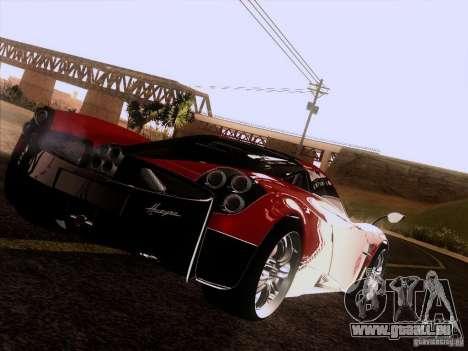 Pagani Huayra 2012 für GTA San Andreas Rückansicht