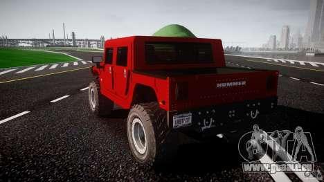 Hummer H1 4x4 OffRoad Truck v.2.0 pour GTA 4 est un côté