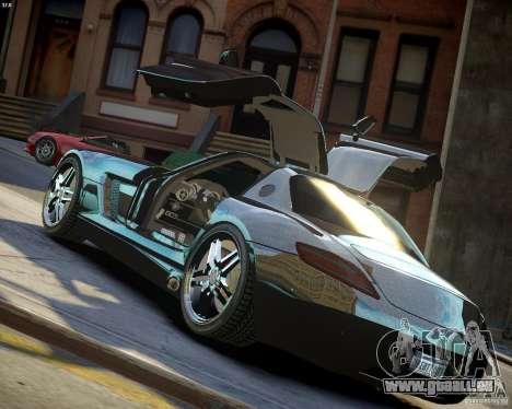 Mercedes SLS Extreme pour GTA 4 vue de dessus
