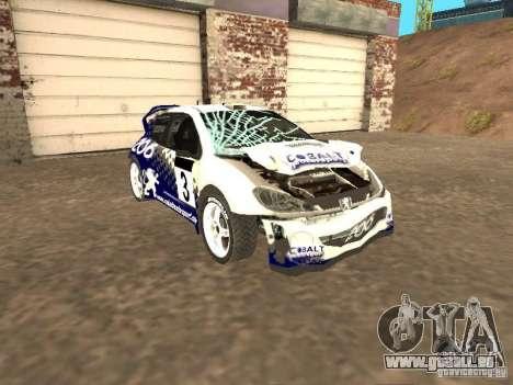 Peugeot 206 WRC de Richard Burns Rally pour GTA San Andreas vue intérieure