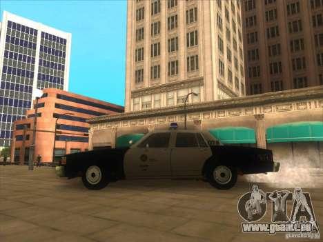 Chevrolet Caprice Interceptor LAPD 1986 pour GTA San Andreas laissé vue