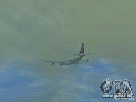 Airbus A340-300 Air France für GTA San Andreas obere Ansicht
