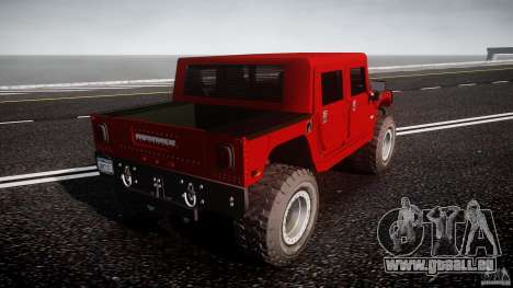 Hummer H1 4x4 OffRoad Truck v.2.0 pour GTA 4 Vue arrière de la gauche