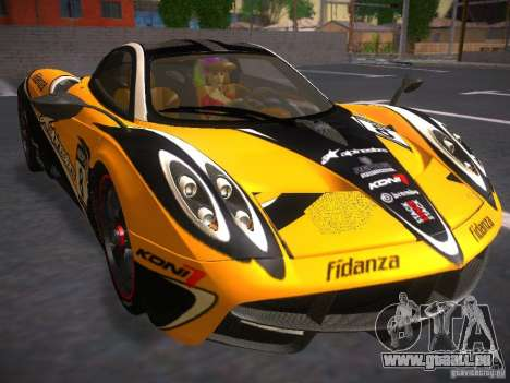 Pagani Huayra pour GTA San Andreas vue arrière