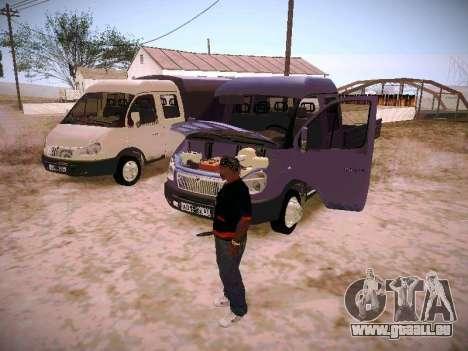 Gazelle 33023 für GTA San Andreas obere Ansicht
