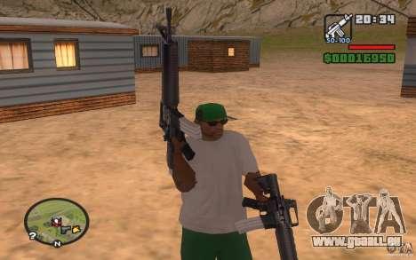 Double weapons pour GTA San Andreas deuxième écran