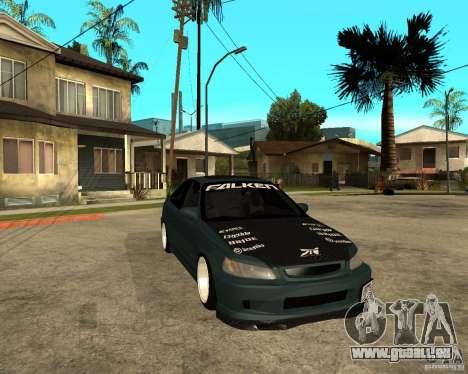 Honda Civic Coupe V-Tech für GTA San Andreas Rückansicht