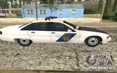Chevrolet Caprice Police pour GTA San Andreas vue de droite