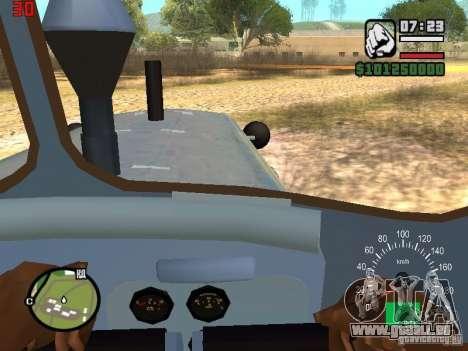 Bouteur du Kazakhstan DT-75 pour GTA San Andreas vue intérieure