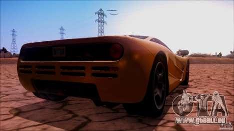 McLaren F1 v1.0.1 1994 pour GTA San Andreas laissé vue