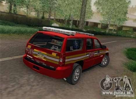 Chevrolet Suburban EMS Supervisor 862 pour GTA San Andreas laissé vue