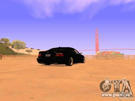 BMW M5 E39 Stanced pour GTA San Andreas sur la vue arrière gauche