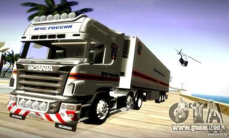 Scania R620 Emercom Romanow für GTA San Andreas rechten Ansicht