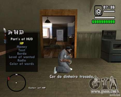 Change Hud Colors pour GTA San Andreas quatrième écran