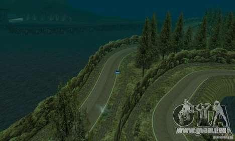 L'itinéraire du rallye pour GTA San Andreas
