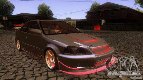 Honda Civic SI pour GTA San Andreas vue arrière