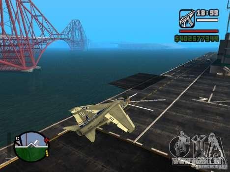 A-7 Corsair II pour GTA San Andreas laissé vue