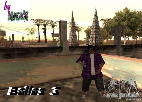 Pak peaux Ballas pour GTA San Andreas troisième écran