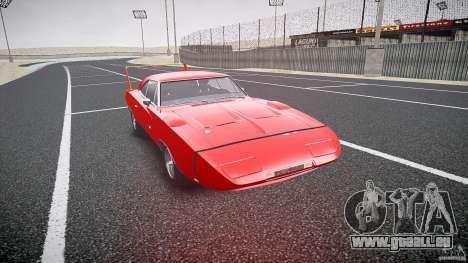 Dodge Charger Daytona 1969 [EPM] pour GTA 4 Vue arrière