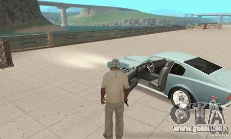Aston Martin V8 für GTA San Andreas Rückansicht