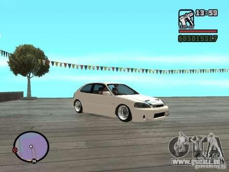 Honda Civic EK9 JDM für GTA San Andreas rechten Ansicht