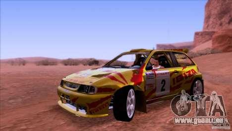 Seat Ibiza Rally pour GTA San Andreas laissé vue