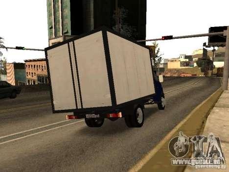 GAZ 3302-14 pour GTA San Andreas sur la vue arrière gauche