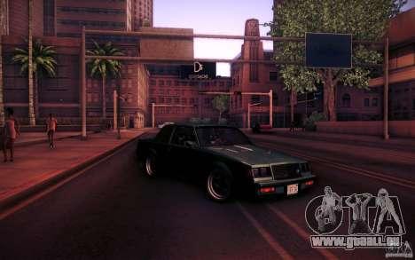 Buick Regal GNX pour GTA San Andreas vue de dessus