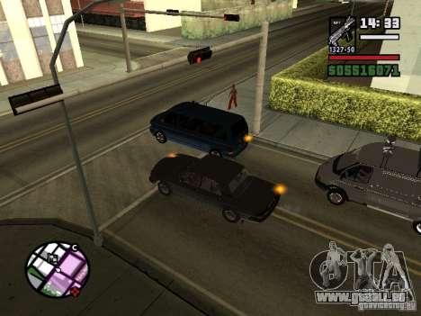 Clignotants 2.1 pour GTA San Andreas deuxième écran