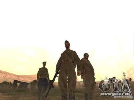 WORLD WAR II sowjetischer Soldat-Haut für GTA San Andreas dritten Screenshot