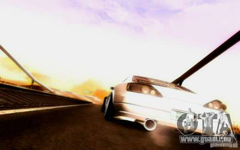 Nissan 150SX Drift für GTA San Andreas obere Ansicht