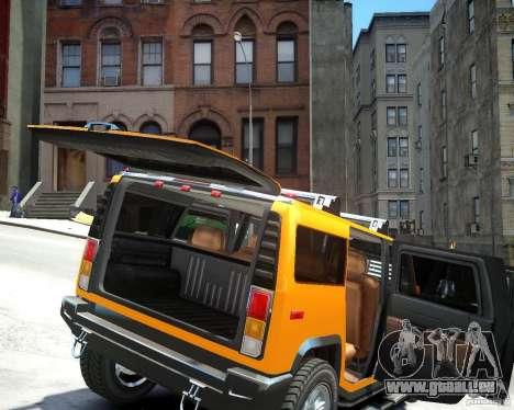 Hummer H2 2010 Limited Edition für GTA 4 Rückansicht
