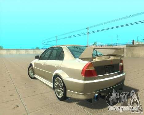 Mitsubishi Lancer Evolution VI 1999 Tunable pour GTA San Andreas moteur