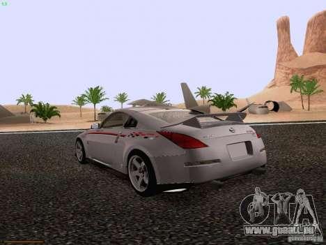 Nissan 350Z Nismo S-Tune für GTA San Andreas zurück linke Ansicht