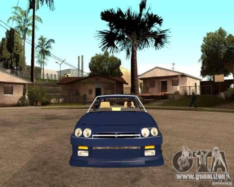 Opel Manta pour GTA San Andreas vue de droite