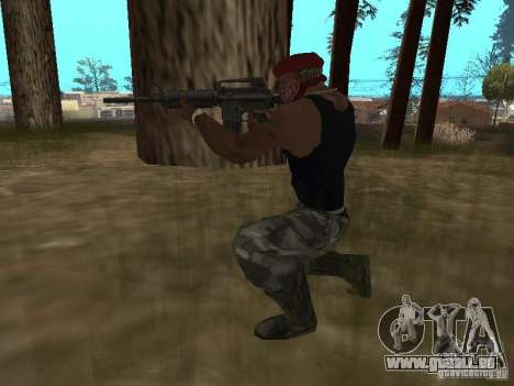 M4A1 für GTA San Andreas fünften Screenshot