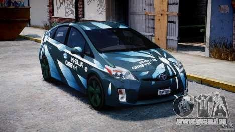 Toyota Prius 2011 PHEV Concept für GTA 4 Rückansicht