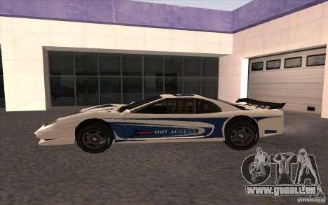 Le nouveau Turismo pour GTA San Andreas laissé vue
