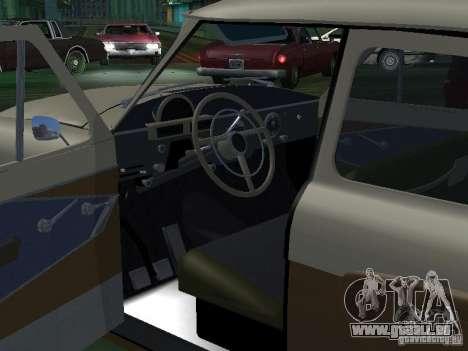 GAZ M21T Taxi pour GTA San Andreas vue de dessus