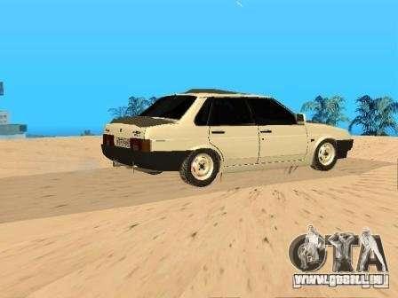 VAZ 21099 hiver pour GTA San Andreas laissé vue
